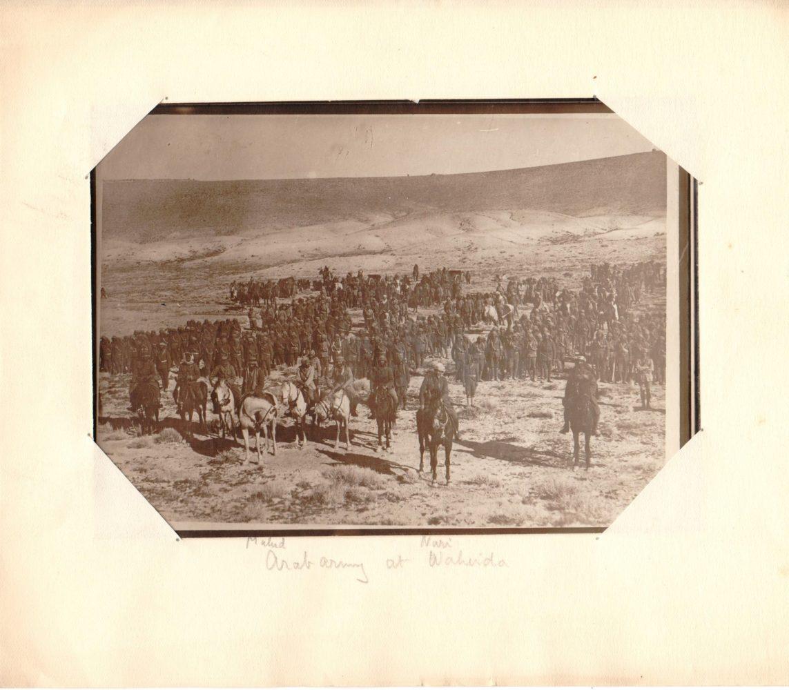 Photograph of Arab army at Wuheida. P4452/3/3